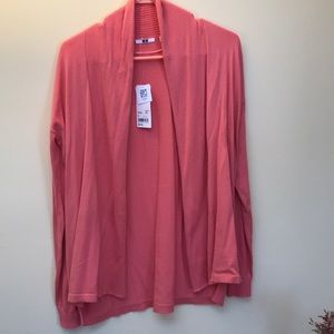 NWT peach Cotton Cardigan with UV filter